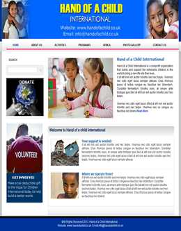 Organisation / Children free website template